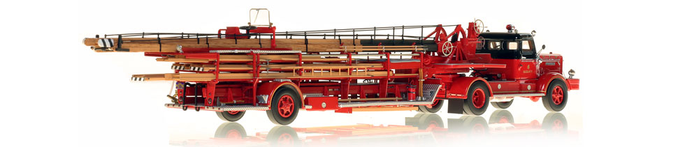 Chicago Fire Department 1954 FWD Tractor Trailer scale model is hand-crafted