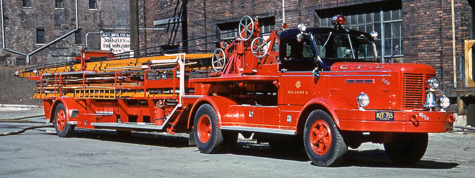 Chicago H&L 8 - 1954 FWD 85' Tractor-Drawn Aerial
