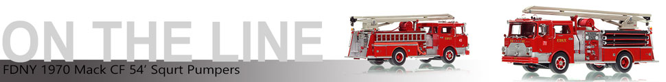 Assembly pictures of FDNY's 1970 Mack CF Squrt Engine 70 scale model