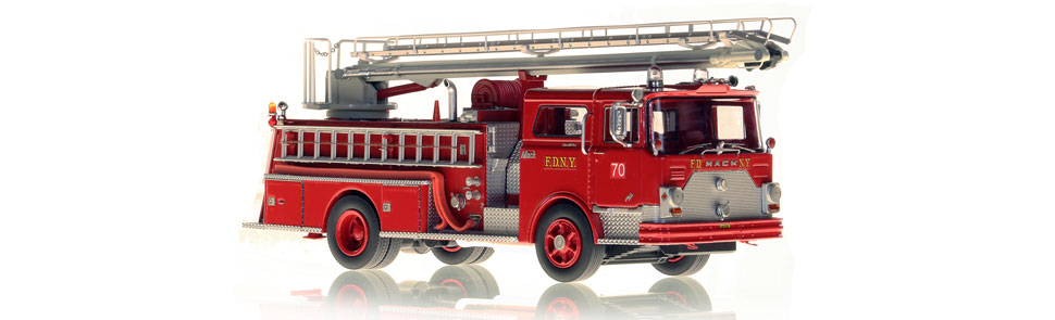 FDNY 1970 Mack CF 50' Telesqurt scale model