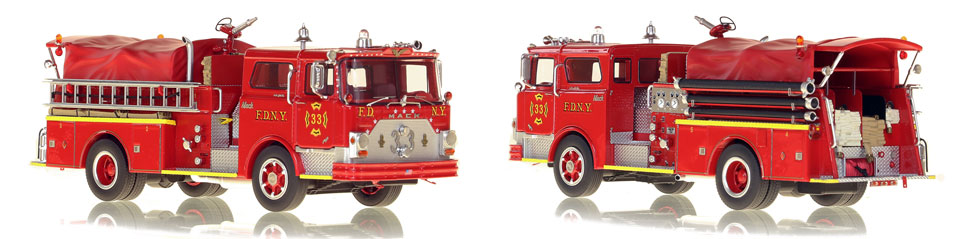 FDNY's 1970 Engine 33 scale model is hand-crafted and intricately detailed.