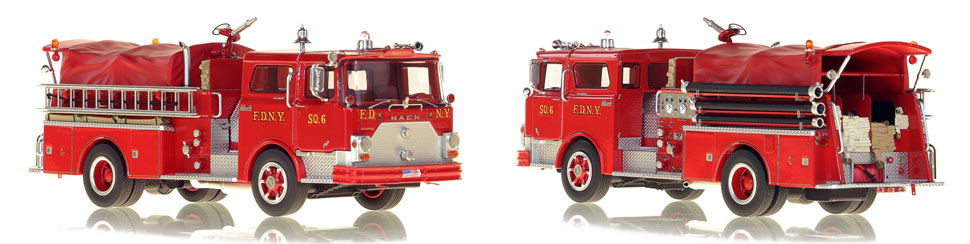 FDNY's 1970 Squad 6 scale model is hand-crafted and intricately detailed.