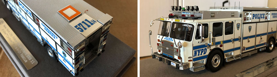 Closeup pics 7-8 of NYPD ESS 11 scale model