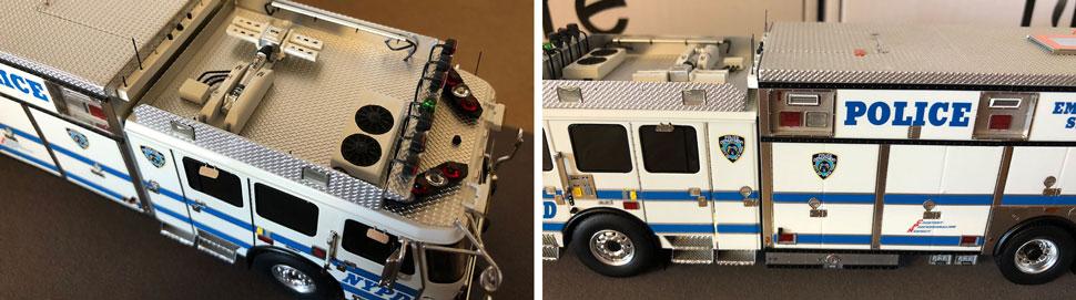 Closeup pics 3-4 of NYPD ESS 11 scale model