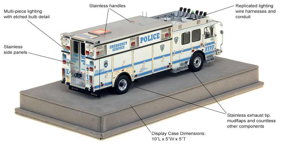 Specs and features of NYPD ESS 11 in Brooklyn