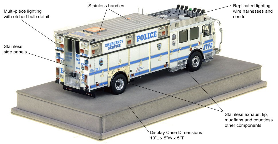 Specs and features of NYPD ESS 5 from Staten Island