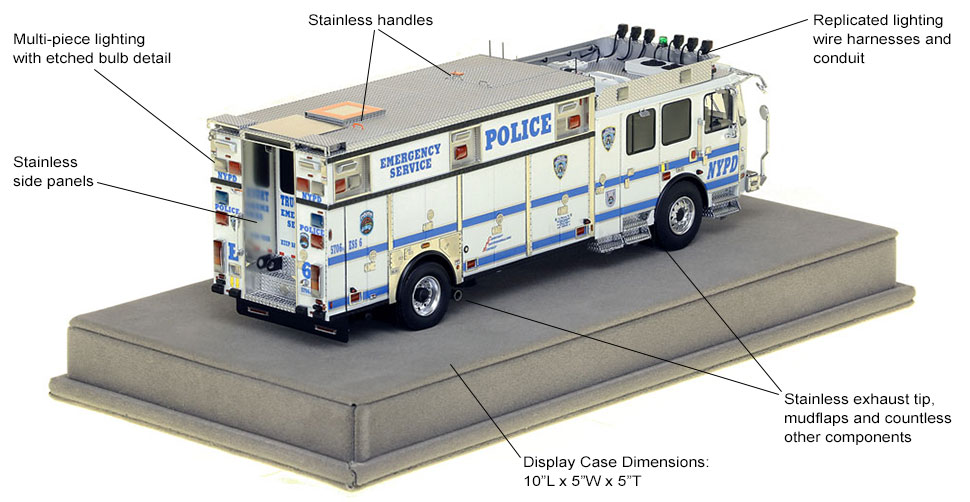 Specs and features of NYPD ESS 6 from Brooklyn