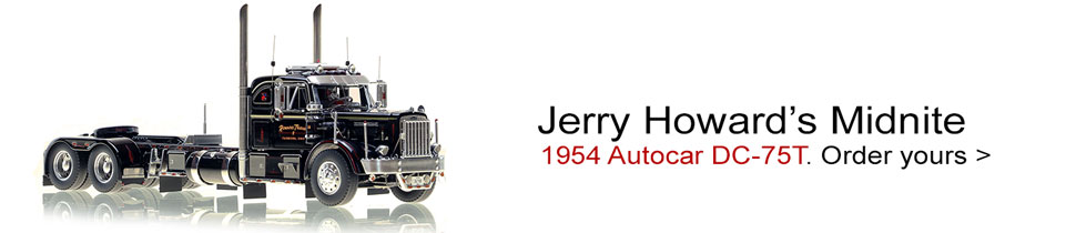 Order your Jerry Howard 1954 Autocar DC-75T scale model!