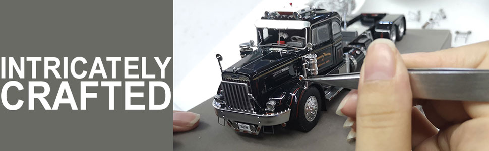 Jerry Howard's 1954 Autocar DC-75T scale model is intricately crafted.