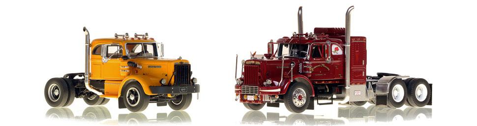 Vintage Trucks scale models including the 1954 Autocar DC-75T.