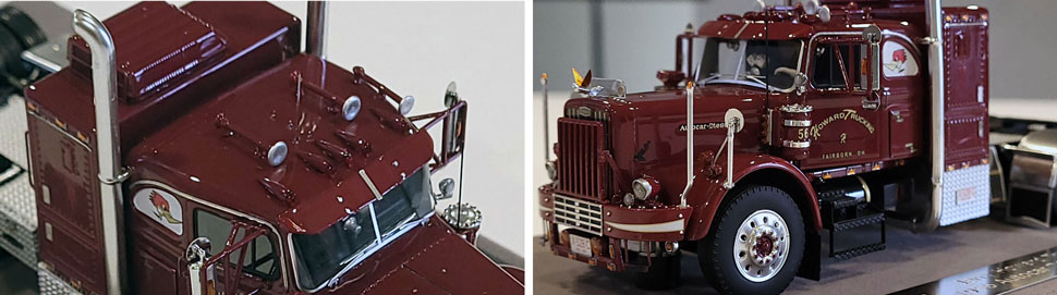 Close up images 3-4 of Jerry Howard's Big Red - 1956 Autocar DC-75T scale model