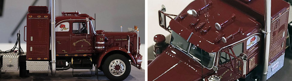 Close up images 9-10 of Jerry Howard's Big Red - 1956 Autocar DC-75T scale model
