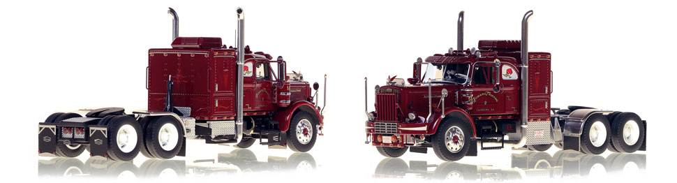 1:50 scale model of Jerry Howard's 1956 Autocar - Big Red