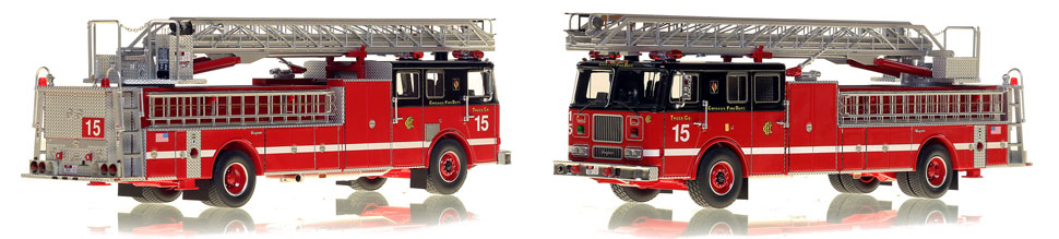 Chicago's 1993 Truck 15 is hand-crafted and intricately detailed.