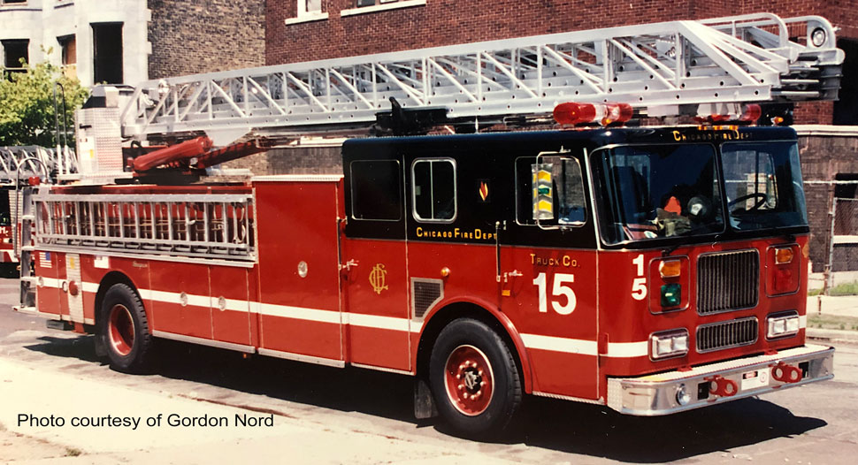 Chicago Fire Department Truck 15 courtesy of Gordon Nord