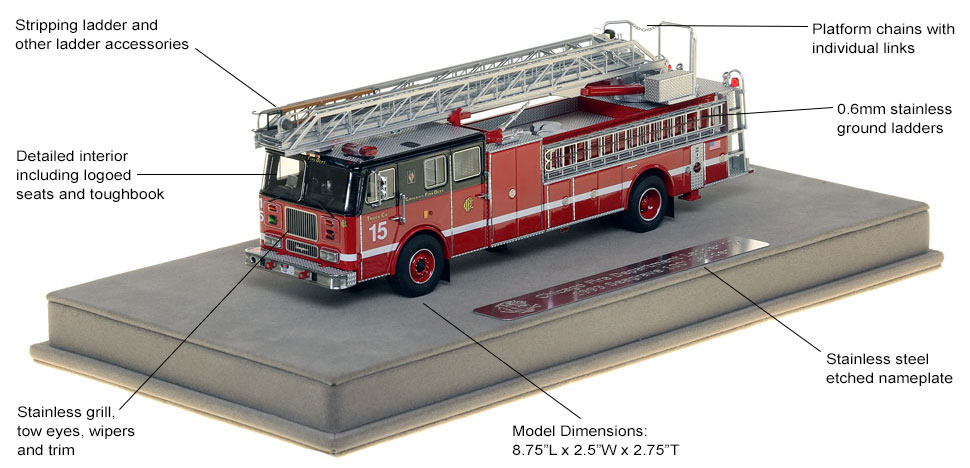Features and Specs of Chicago's 1993 Truck 15 scale model