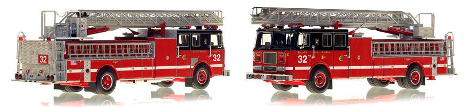 Chicago's 1996 Truck 32 is hand-crafted and intricately detailed.