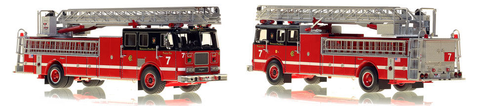 Chicago's 1996 Truck 7 is hand-crafted and intricately detailed.