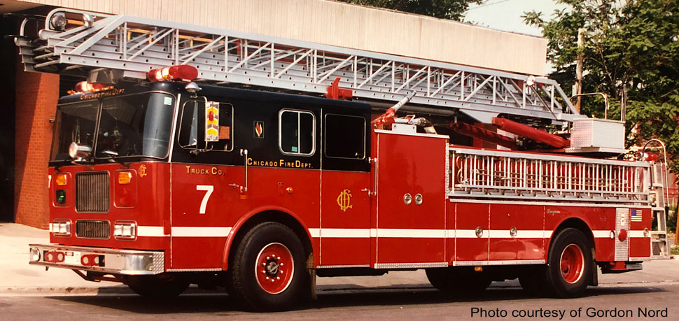 Chicago Fire Department Truck 7 courtesy of Gordon Nord