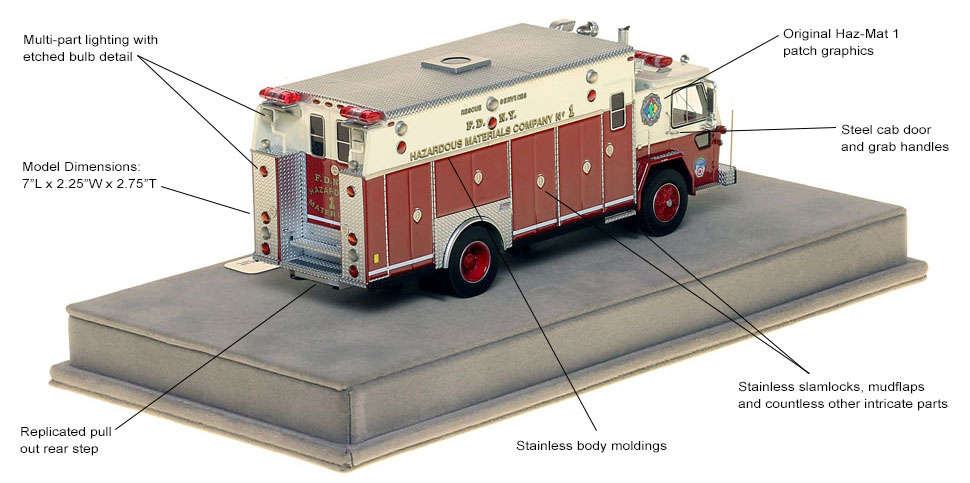 Specs and features of FDNY's 1983 American LaFrance Haz-Mat 1