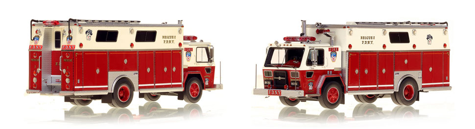 FDNY Rescue 2 with the original 1983 Bulldog Graphics
