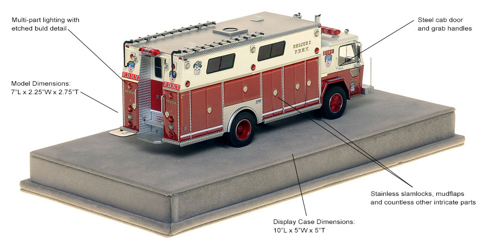 Specs and features of FDNY Rescue 2 from 1982