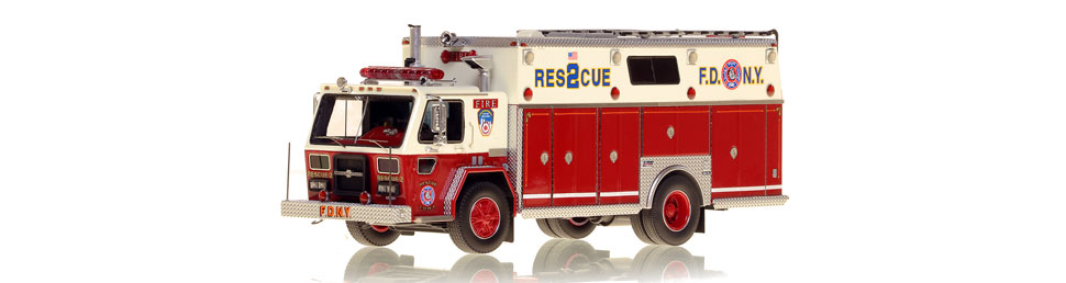 FDNY Rescue 2 - American LaFrance/Saulsbury as seen in 1988