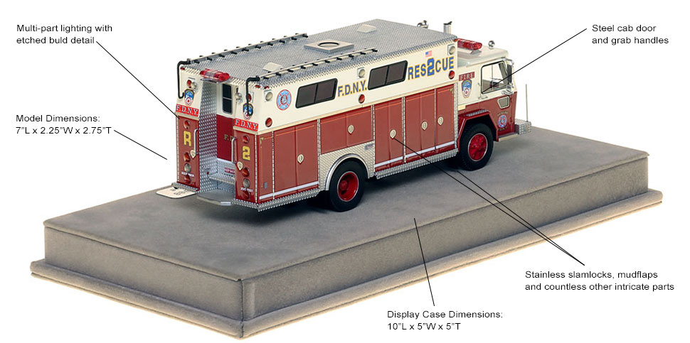 Specs and features of FDNY Rescue 2 from 1988