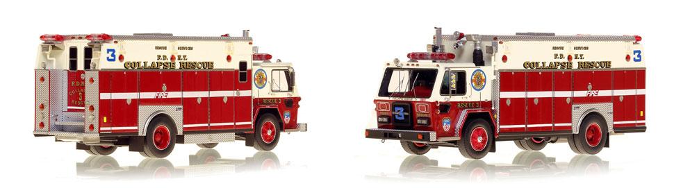 1983 FDNY ALF/Saulsbury Collapse Rescue 3 scale model