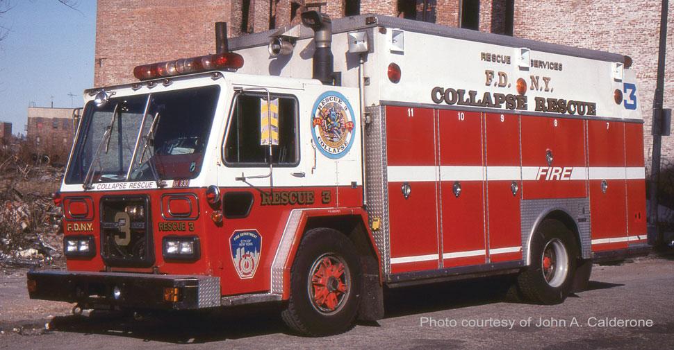 1983 FDNY ALF/Saulsbury Collapse Rescue 3 courtesy of John A. Calderone