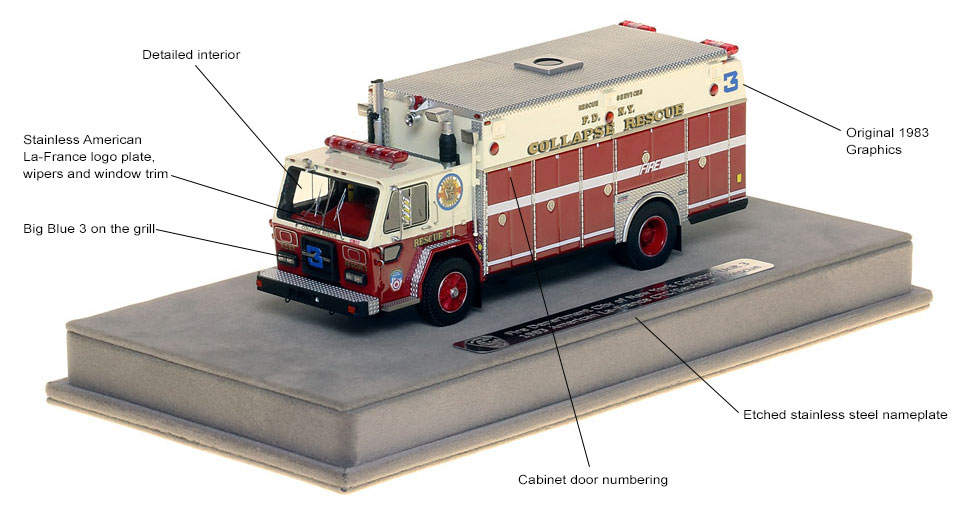 Features and specs of 1983 FDNY Collapse Rescue 3