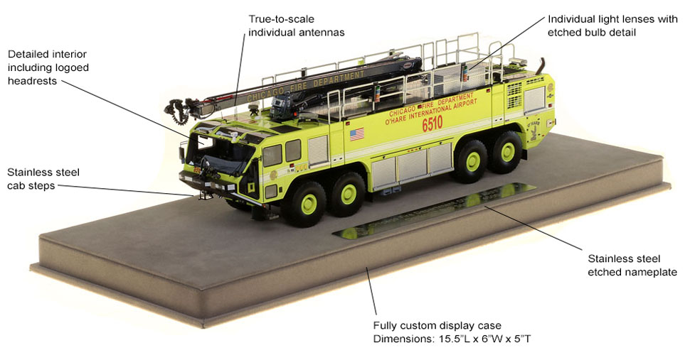 Chicago O'Hare Oshkosh Striker 4500 8x8 6510 scale model specifications