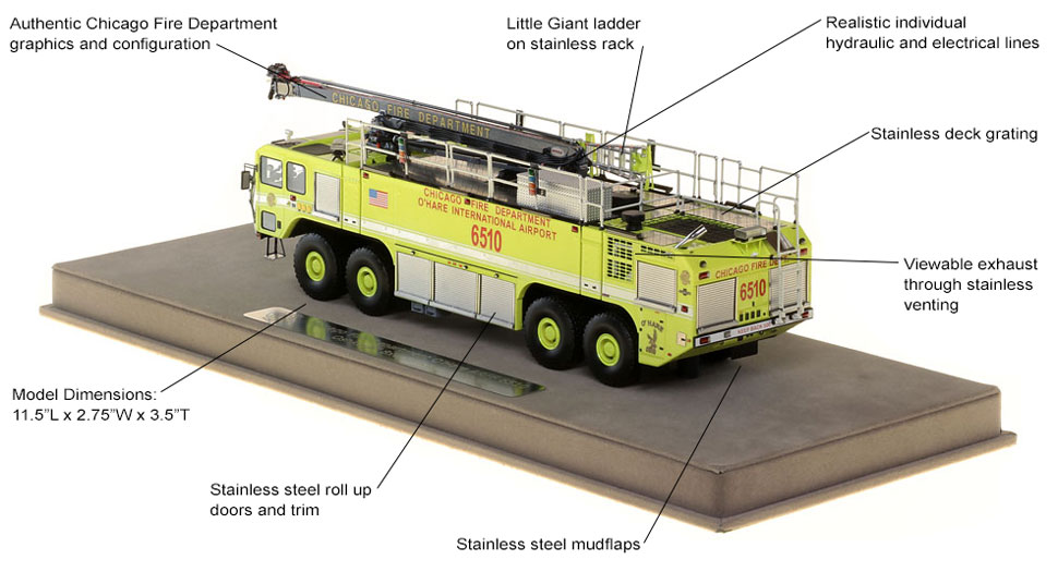 Chicago O'Hare Crash Truck 6510 scale model specs