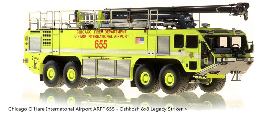 Order your limited production Chicago O'Hare ARFF 655 scale model!