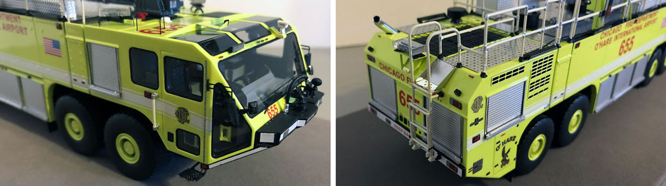 Closeup pictures 7-8 of Chicago O'Hare ARFF 655 scale model