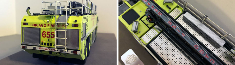 Closeup pictures 11-12 of Chicago O'Hare ARFF 655 scale model