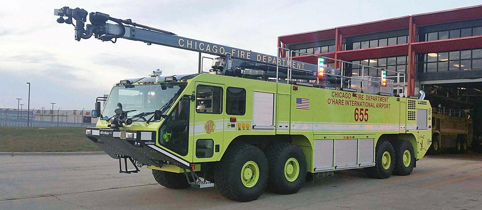 Chicago O'Hare ARFF 655 Oshkosh 8x8 Legacy Striker