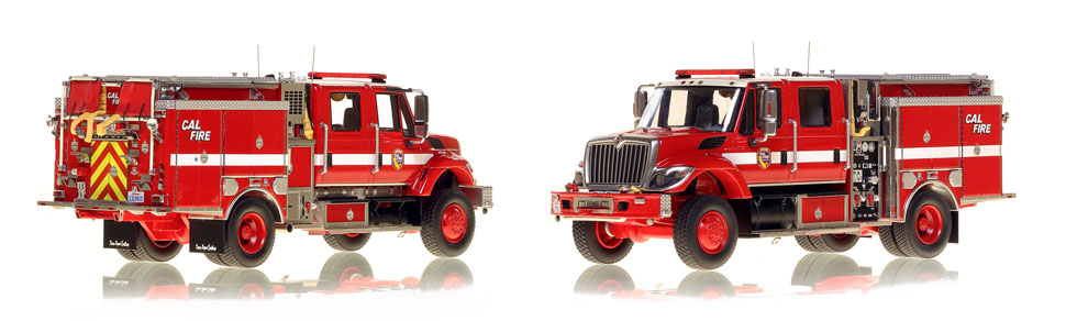 Cal Fire's Wildland Pumper is hand-crafted and intricately detailed.