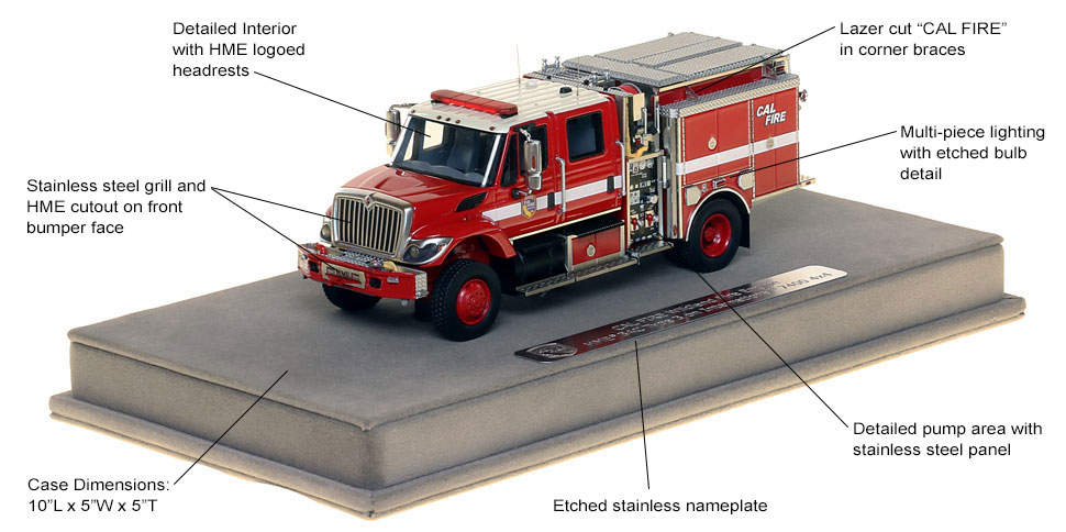 Specs and Features of CAL FIRE's Wildland Pumper scale model