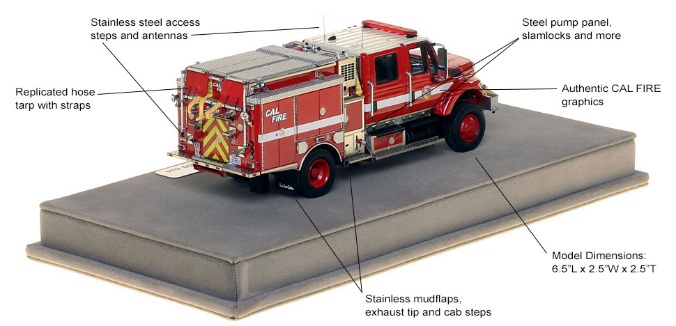 Features and specs of CAL FIRE's first museum grade scale model