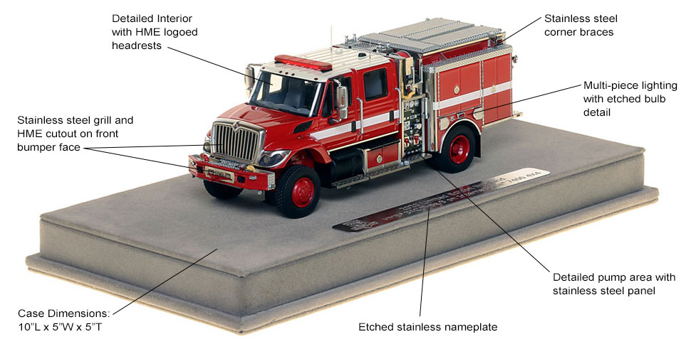 Specs and features of the 2020 Limited Edition Wildland Pumper