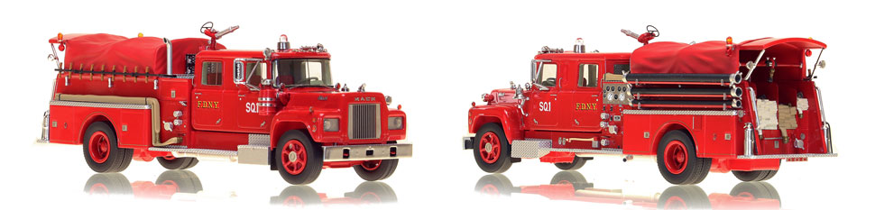 FDNY's 1969 Squad 1 is hand-crafted and intricately detailed.