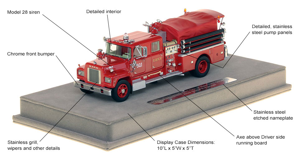 Features and Specs of FDNY's 1969 Mack R Squad 1