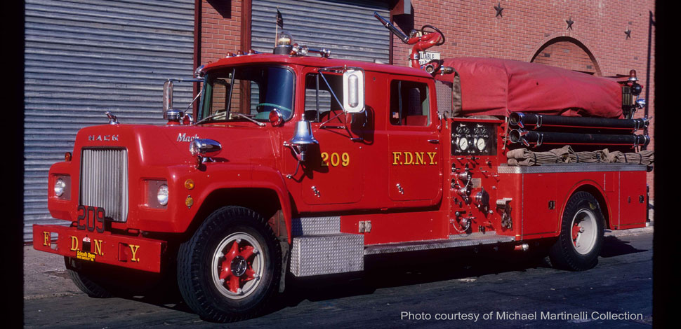 FDNY 1969 Mack R Engine 209 courtesy of Michael Martinelli Collection