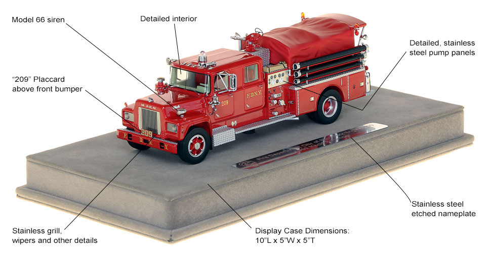 Specs and Features of FDNY's 1969 Mack R Engine 209