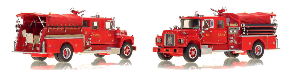FDNY's 1969 Engine 38 is hand-crafted and intricately detailed.