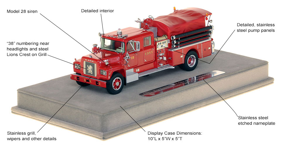 Specs and Features of FDNY's 1969 Mack R Engine 38