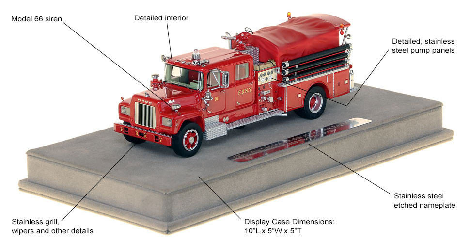 Features and Specs of FDNY's 1969 Mack R Engine 91-2