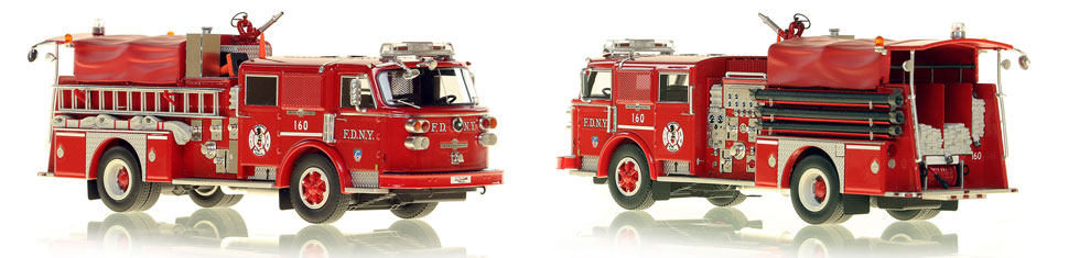 FDNY's 1980 Engine 160 scale model is hand-crafted and intricately detailed.