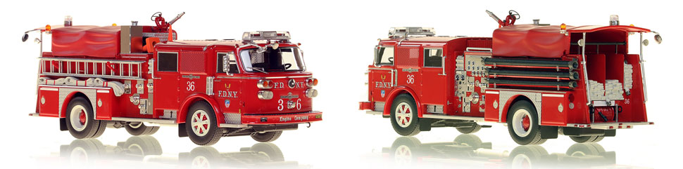 FDNY's 1980 Engine 36 scale model is hand-crafted and intricately detailed.